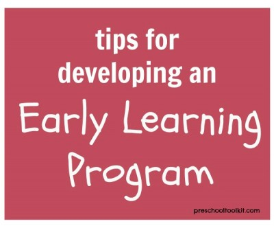 Tips to develop an early learning program
