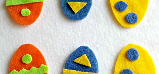 Decorating felt eggs sorting and creating activity for toddlers and preschoolers - Preschool Toolkit