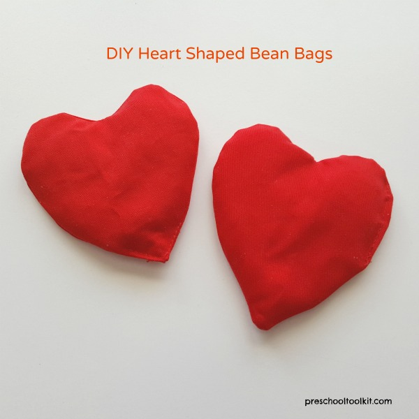 Easy To Make Heart Shaped Bean Bags For Kids Valentine