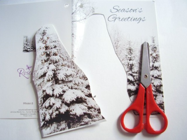 Recycle Christmas cards for an art activity - Preschool Toolkit