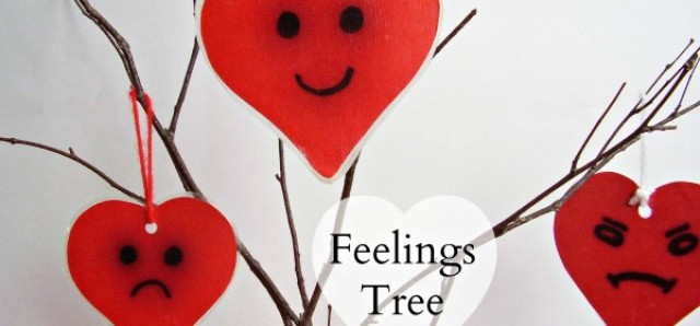 Feelings tree to make for preschool cognitive emotional awareness learning activities
