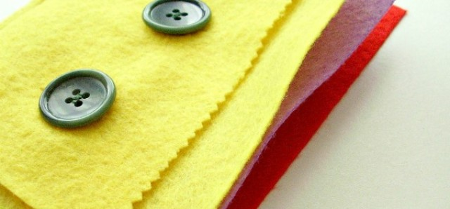 Homemade felt quiet book fine motor preschool activity