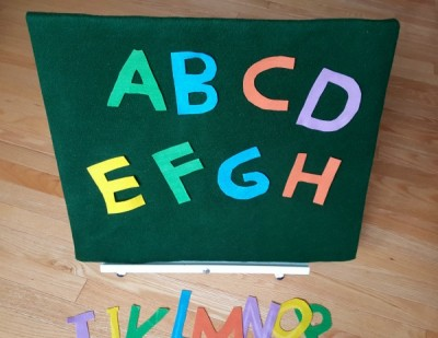 Felt letters of the alphabet you can make for felt board language activities - Preschool Toolkit