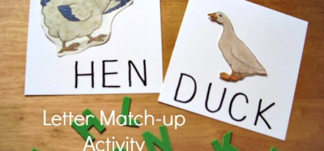 Literacy Activities Using Foam Letters