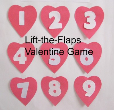 Lift the flaps Valentine game