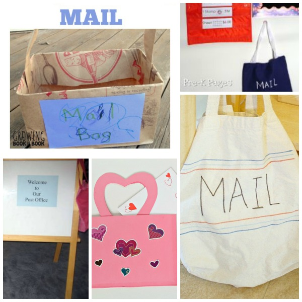 Mailbag crafts for delivering mail in kids dramatic play