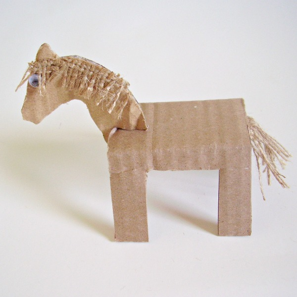 Make cardboard animals for preschool small world pretend play