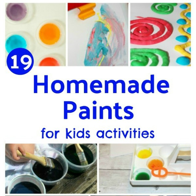 Make your own paints for preschool painting activities indoors and outdoors