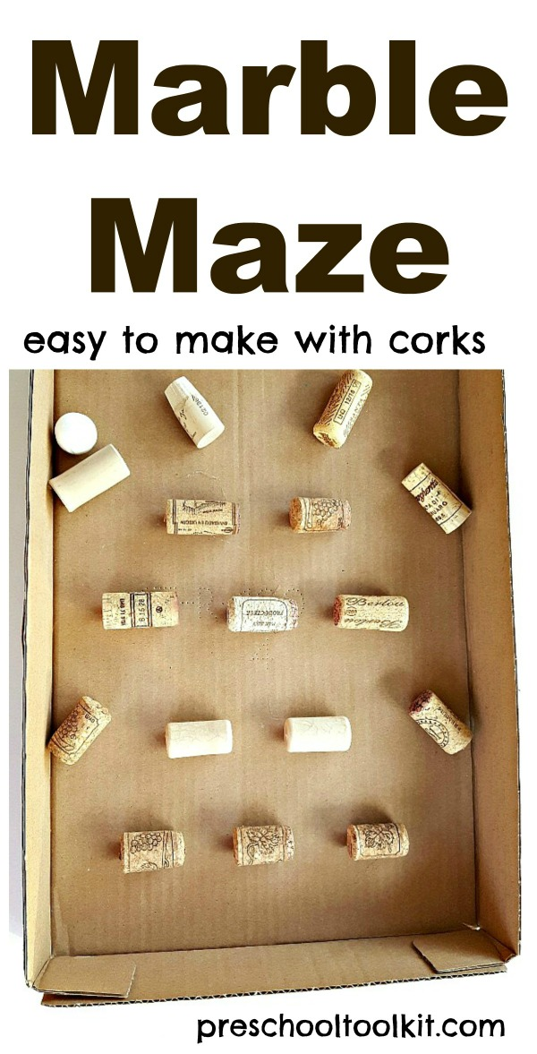 Marble Maze With Corks Steam Activity For Kids Preschool Toolkit