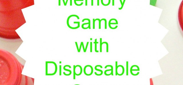 Memory game with disposable cups