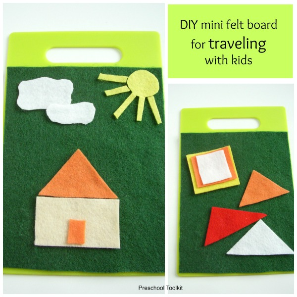 Mini felt board for road trips with kids