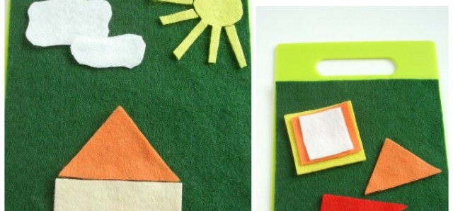 Mini felt board you can make for road trips with kids