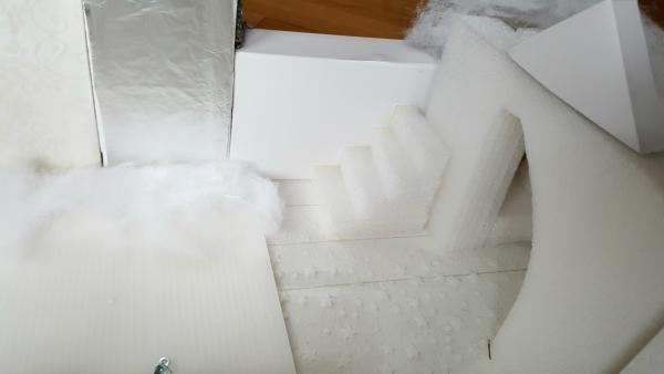Miniature staircase in winter castle preschool activity
