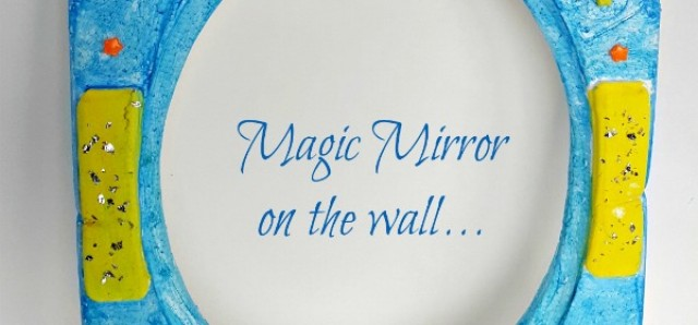 Magic mirror painting activity and pretend play for kids