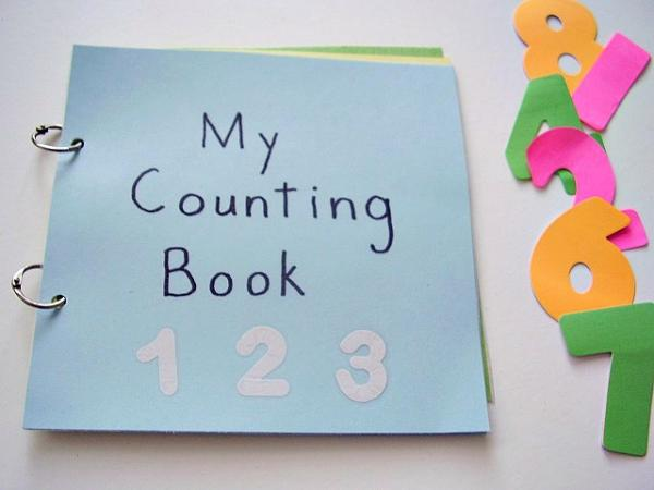 Homemade counting book preschool activity