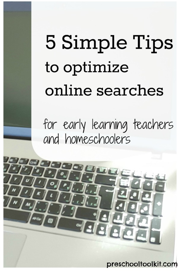 Tips to help optimize your online search time
