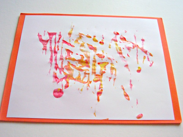 Ice cube painting print making