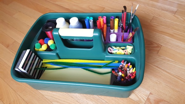 How To Organize A Craft Box For Easy Art Activities With Kids