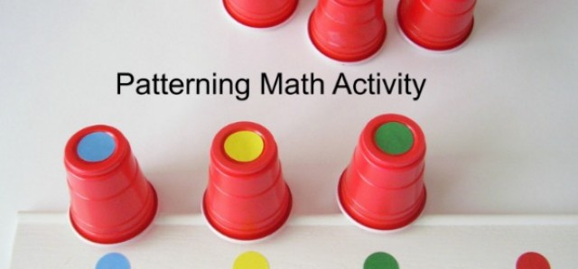 Patterning with colorful dots math activity - Preschool Toolkit