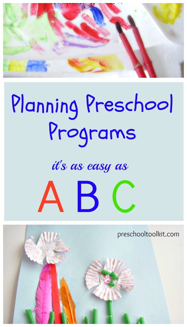 Plan preschool programs with easy ABC method scheduling