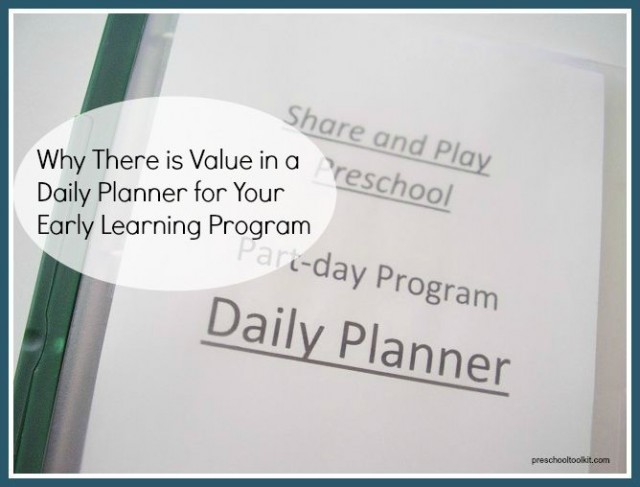 Exploring the value of a daily planner - Preschool Toolkit
