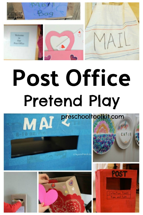 Post office dramatic play centers for preschoolers