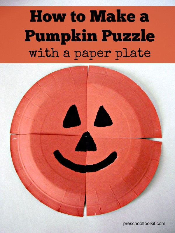 Easy to make puzzle with a paper plate