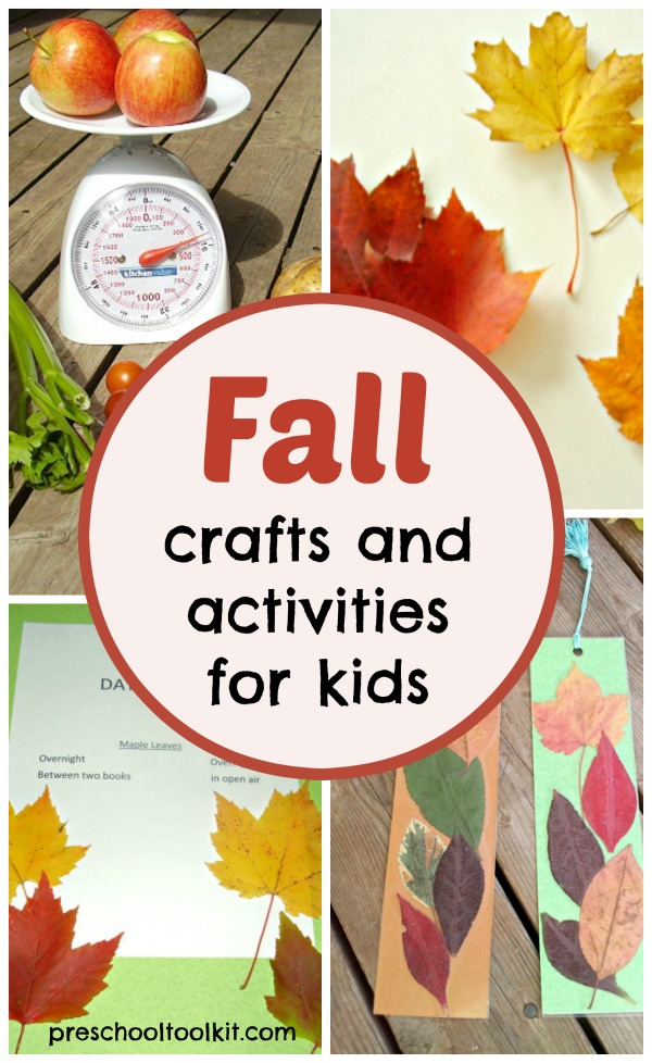 Crafts and activities for fall season with early learners