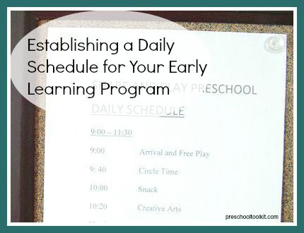 How to establish a schedule for your early learning program that's right for you