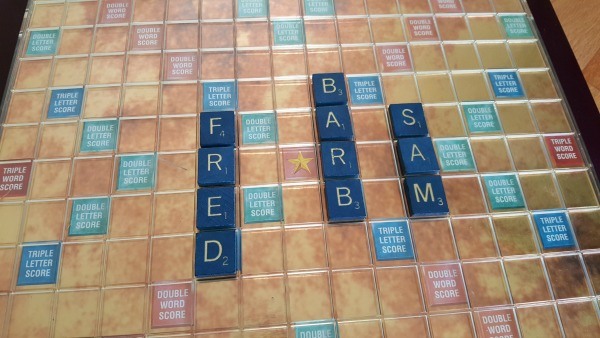 Spell kids names with Scrabble tiles