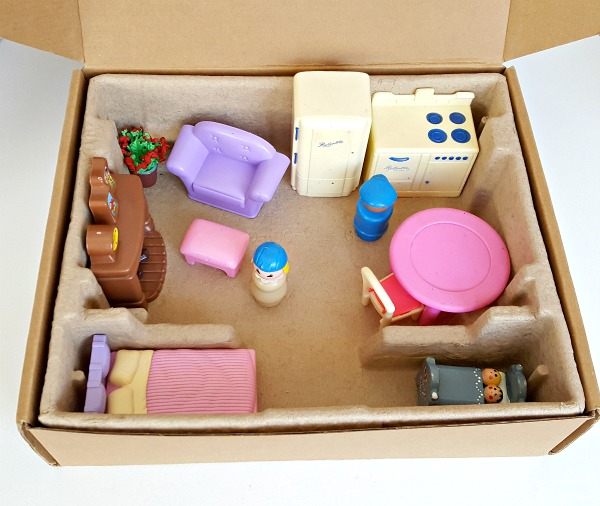 small world house in a box for kids pretend play