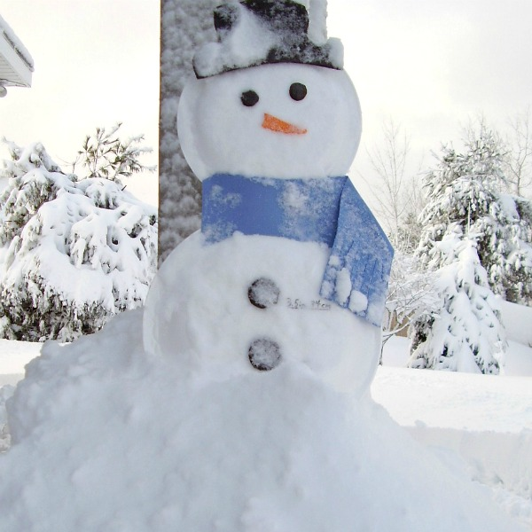 Winter science for kids with a snowman weather gauge
