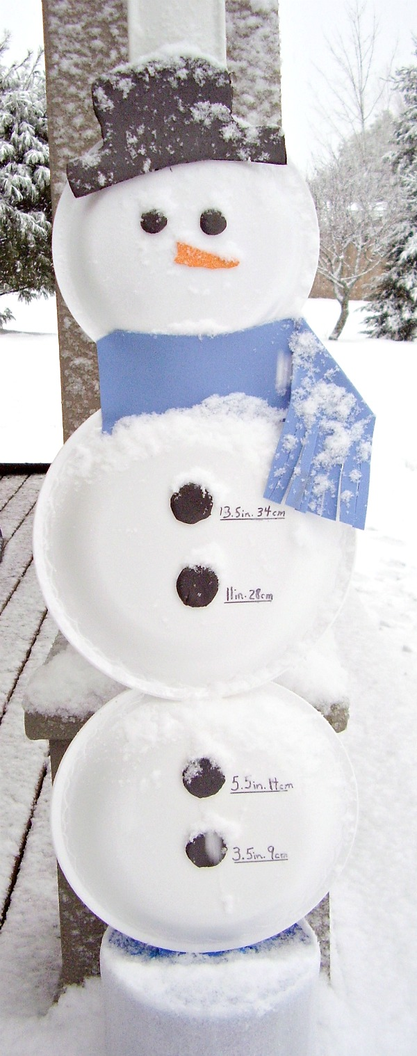 Snowman STEM activity for kids