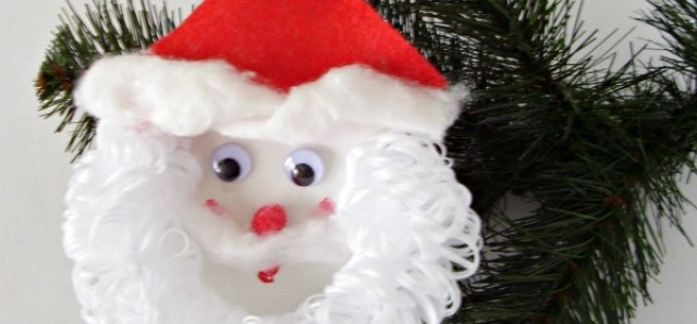 Santa with a fluffy beard Christmas ornament - Preschool Toolkit
