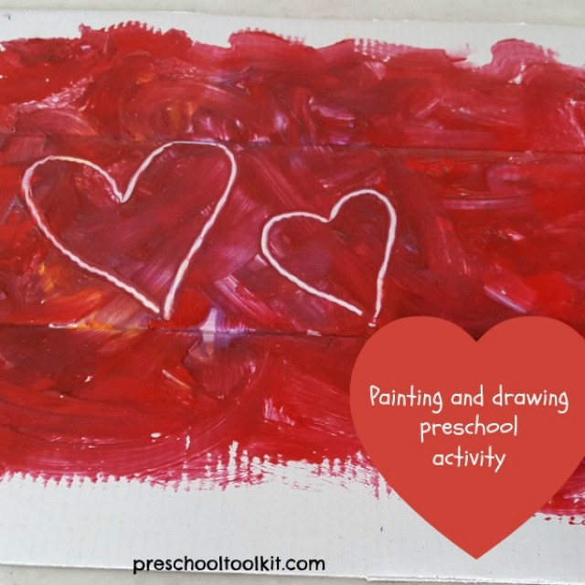 Painting and drawing activity for preschoolers - Preschool Toolkit