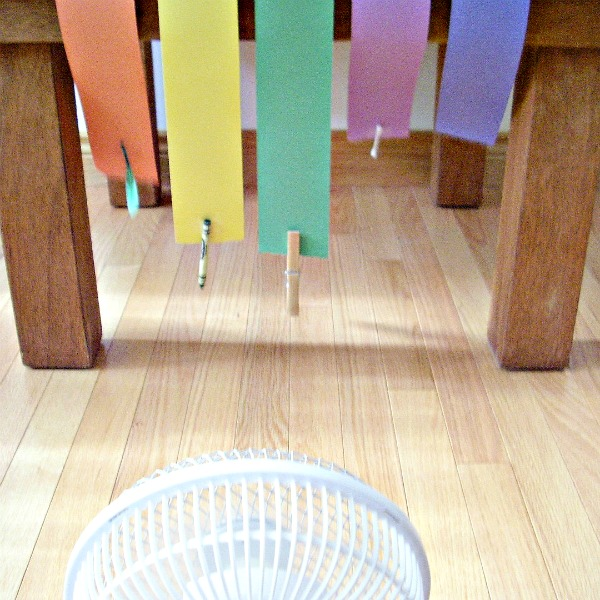Wind experiment for preschoolers
