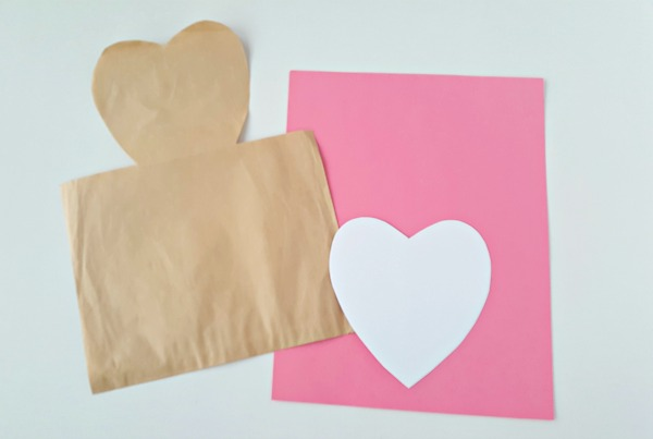 Supplies for a Valentine mailbag