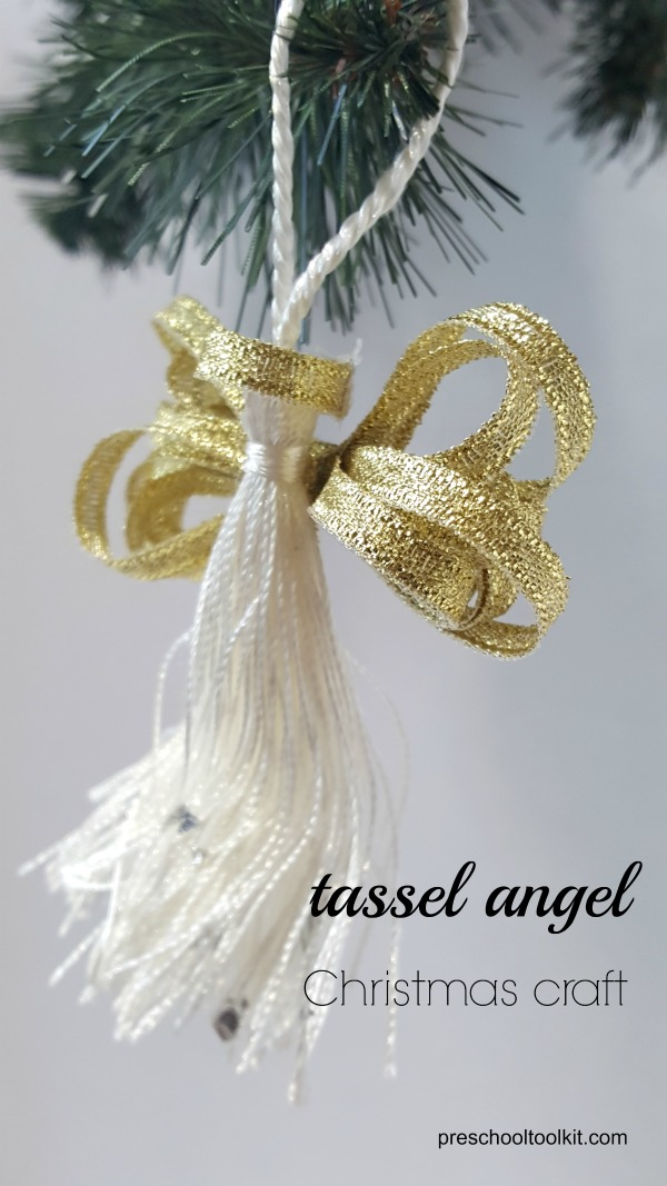 Angel Hair Christmas Tree Decoration.How To Make A Tassel Angel Christmas Tree Ornament