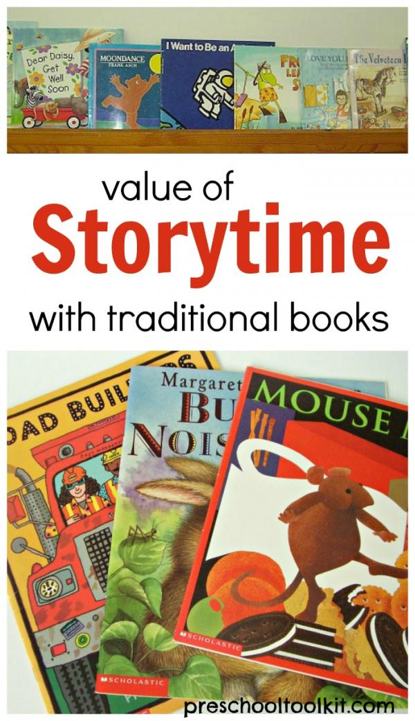 Value of traditional books for early literacy