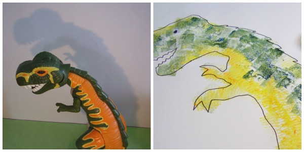 Dinosaur art activity for preschoolers