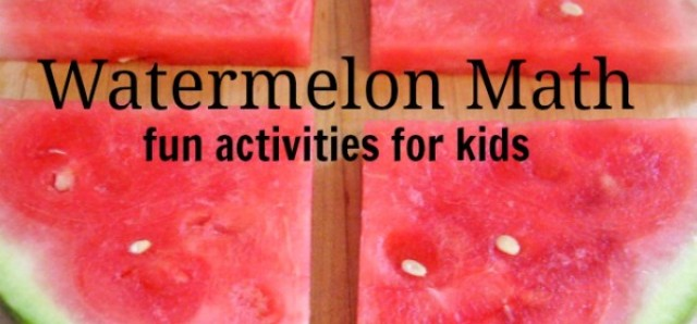 Watermelon activities shapes and weights for preschool summer math theme