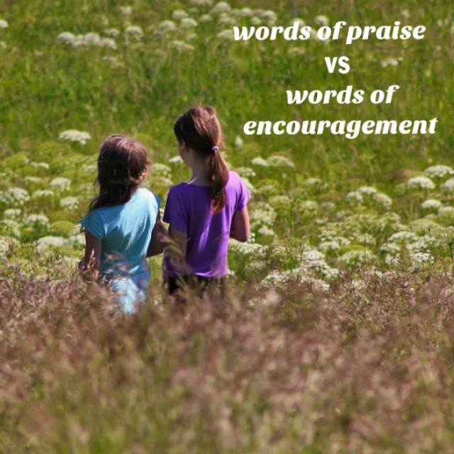 Words of praise vs words of encouragment in communication with early learners