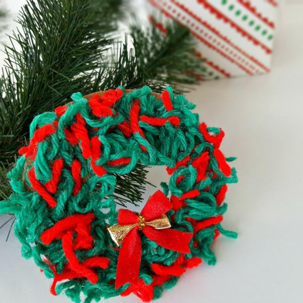 Christmas wreath ornament kids craft
