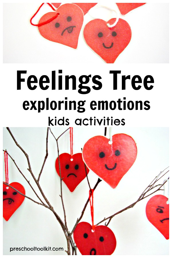 Valentine Feelings tree for exploring emotions with preschoolers