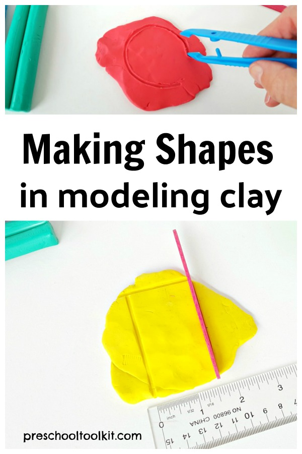 Make shapes in modeling clay with a preschool STEAM activity