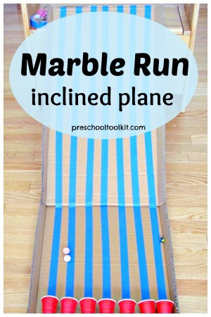 Marble run inclined plane