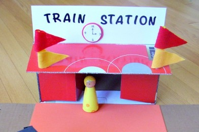 Shoe box train station