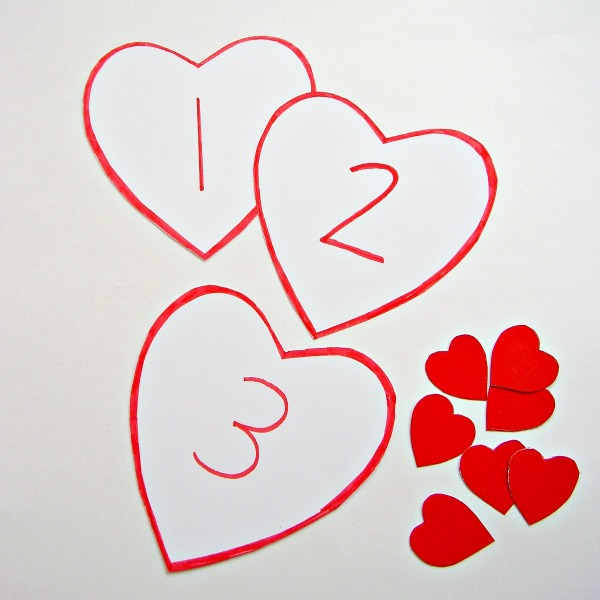 Valentine card games for preschool and kindergarten